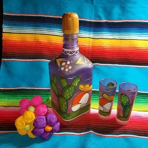 Tequila Decanter and two shot glasses set